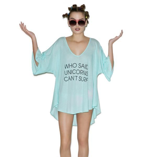 Wildfox Couture Unicorn Surfer Tahiti Tunic