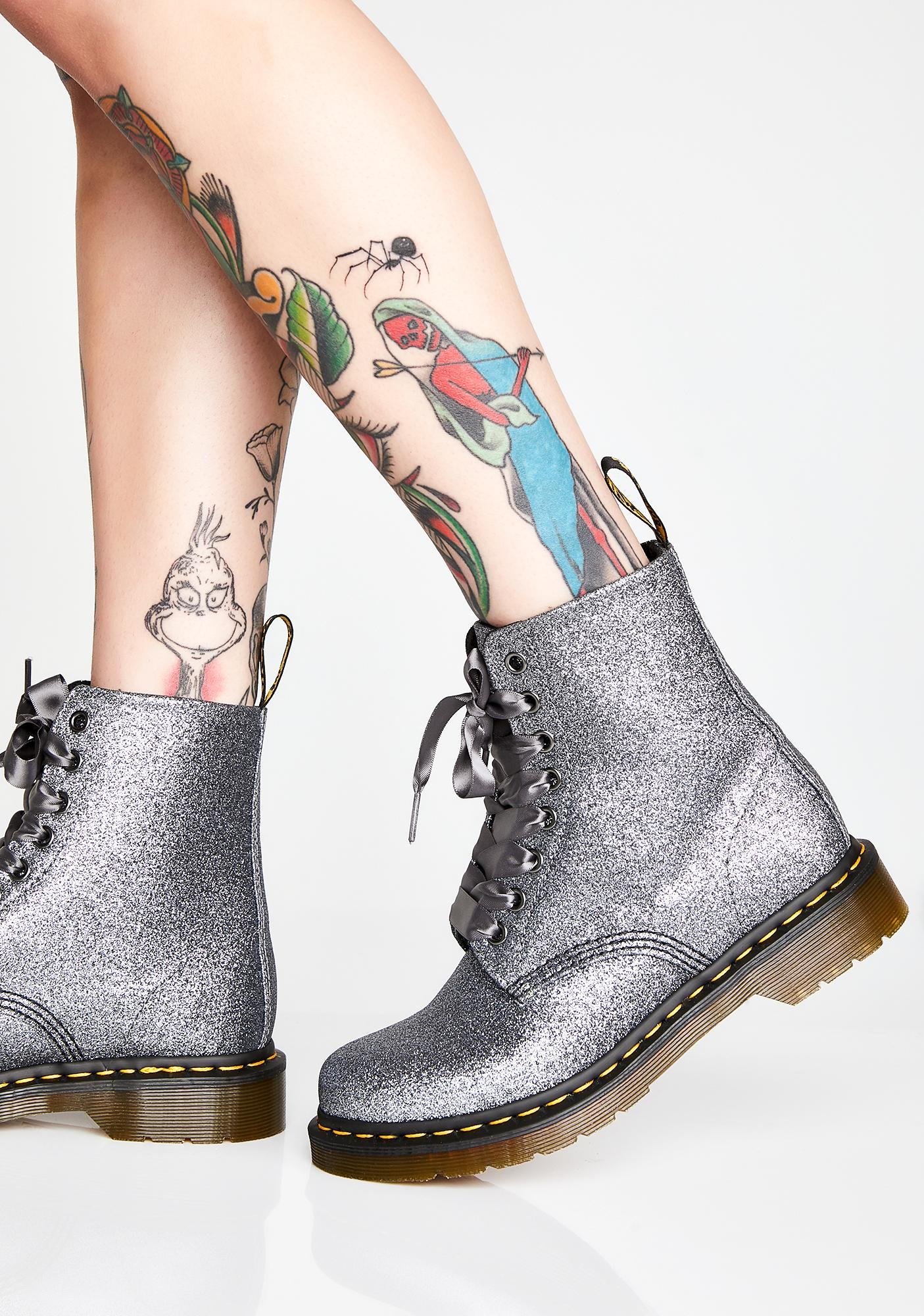 Dr. Martens 1460 Pascal Pewter Glitter Boots