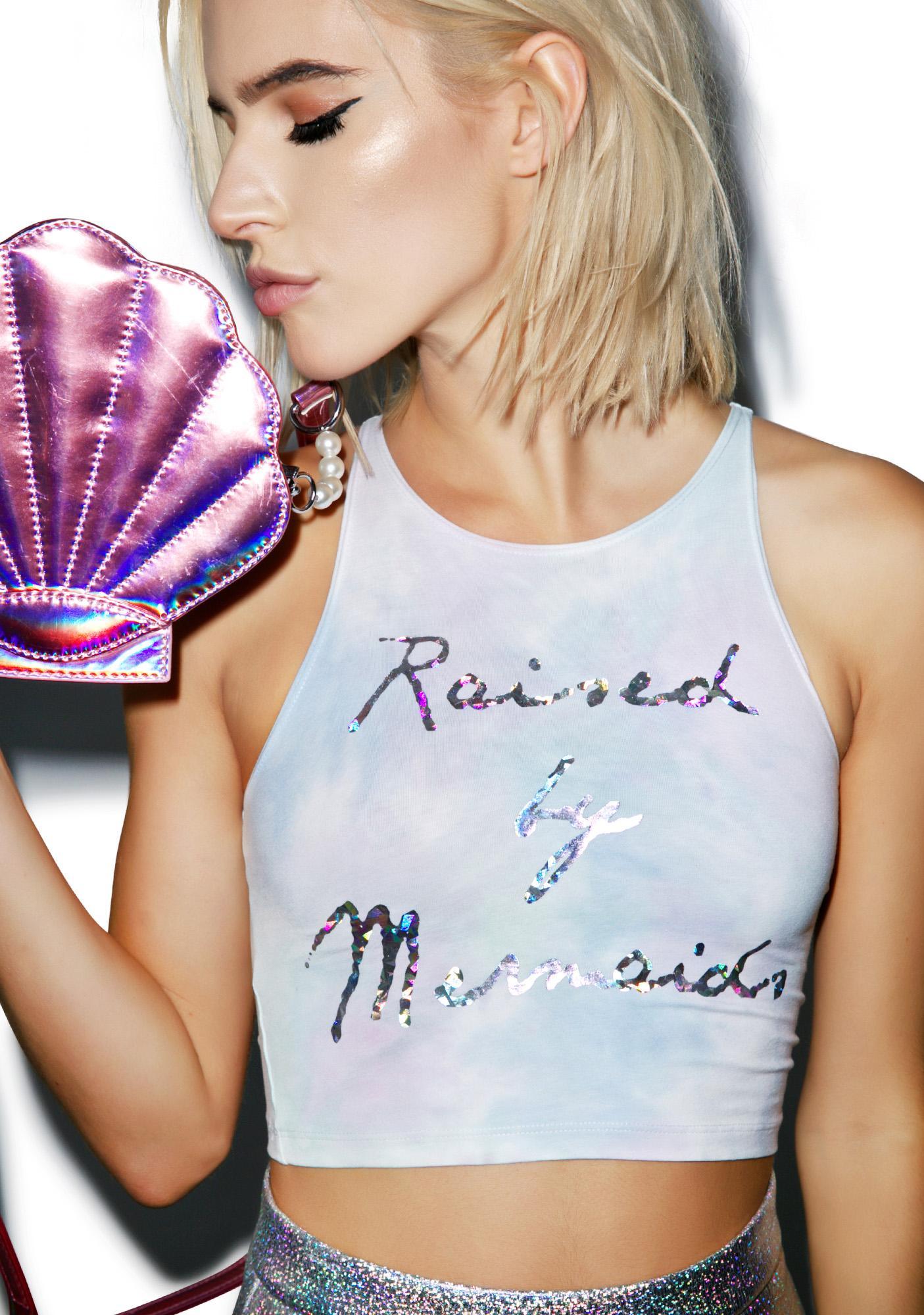 MeYouVersusLife Raised By Mermaids Crop Top