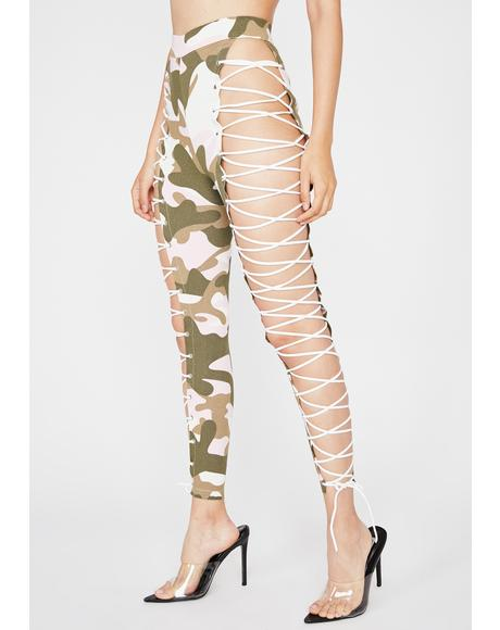 Candy You're A Survivor Cargo Leggings