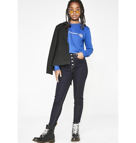 Dickies Girl 5 Pocket High Rise Skinny Jeans