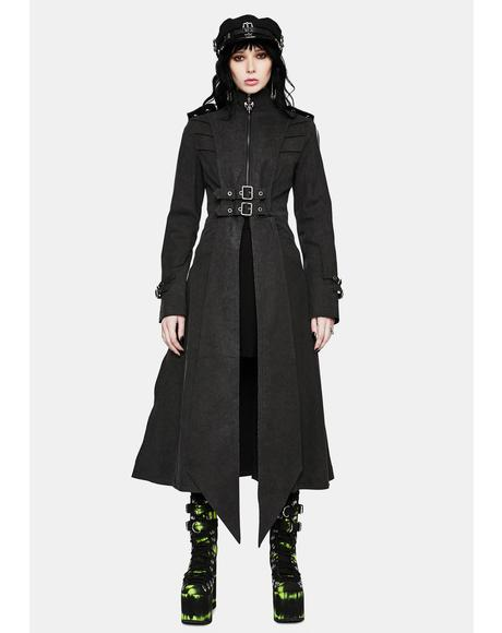 Gothic Epaulette Long Coat