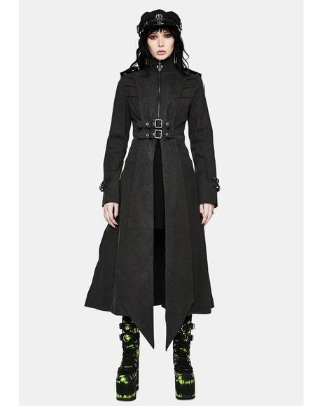 Gothic Epaulette Long Coat