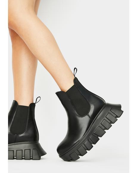 Crashin' Hard Platform Boots