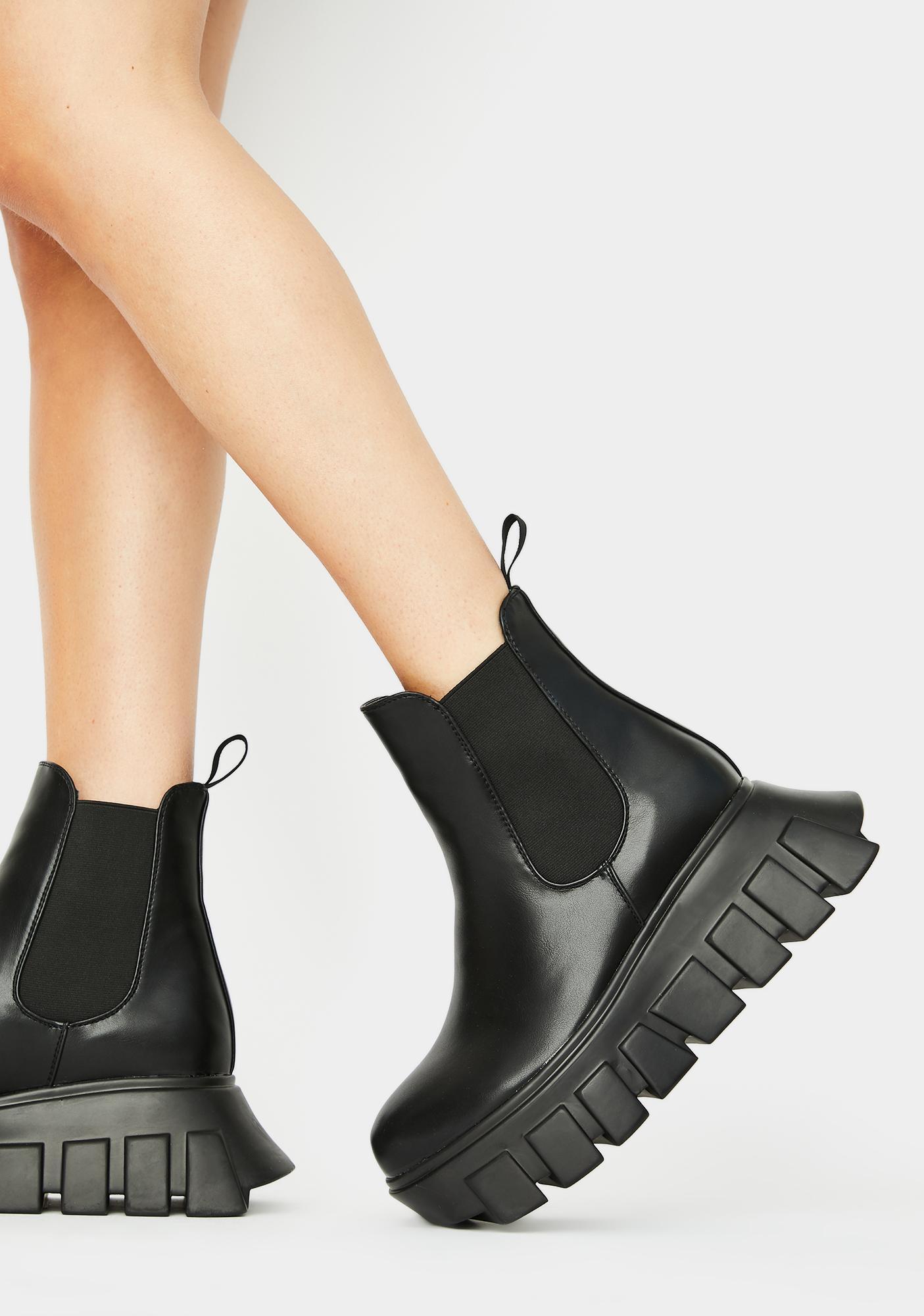 Lamoda Crashin' Hard Platform Boots