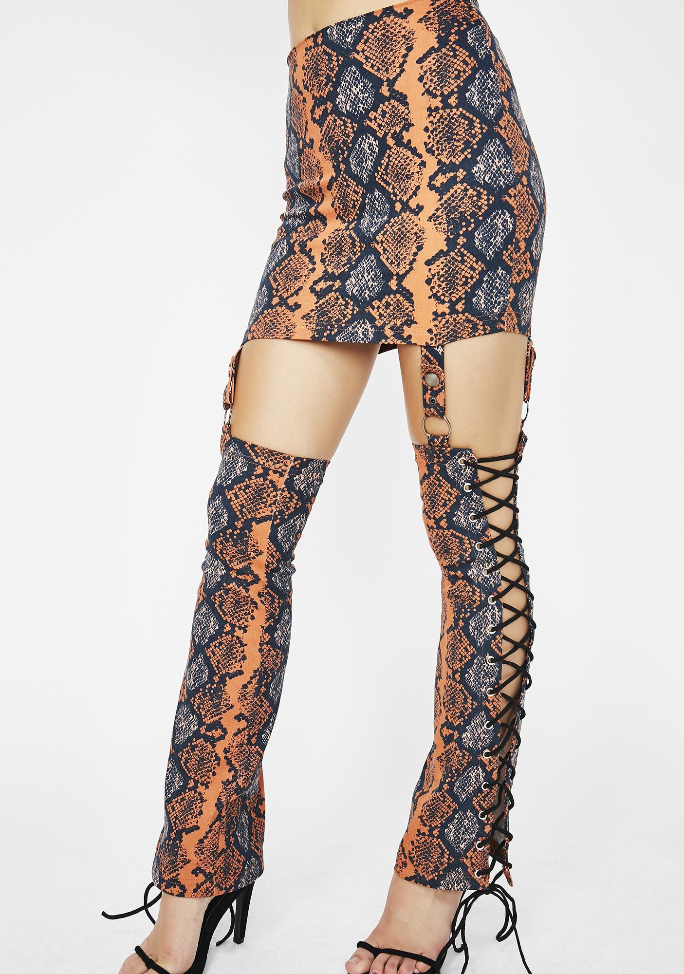 Snake Bite Skirt Chaps