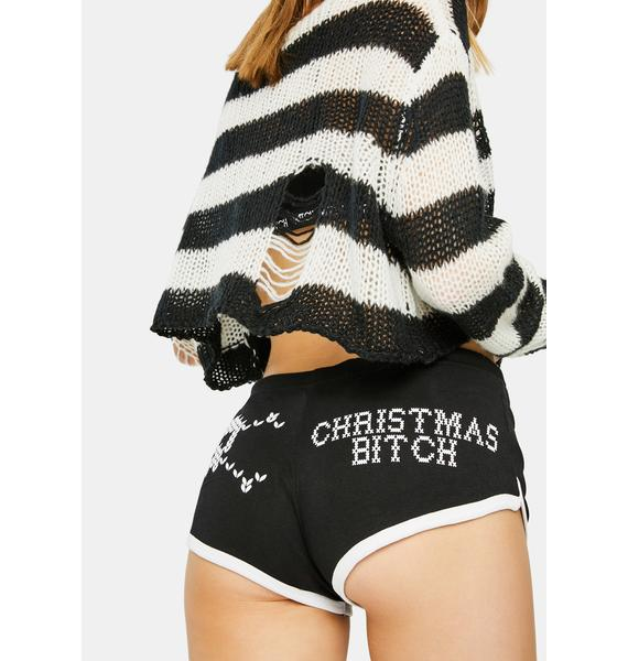 Too Fast Lil Xmas Bitch Booty Shorts