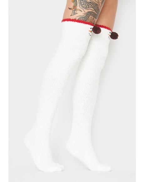 Never Frostbitten Snowman Socks