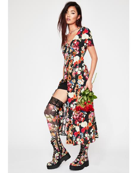 Wildflower About You Midi Dress