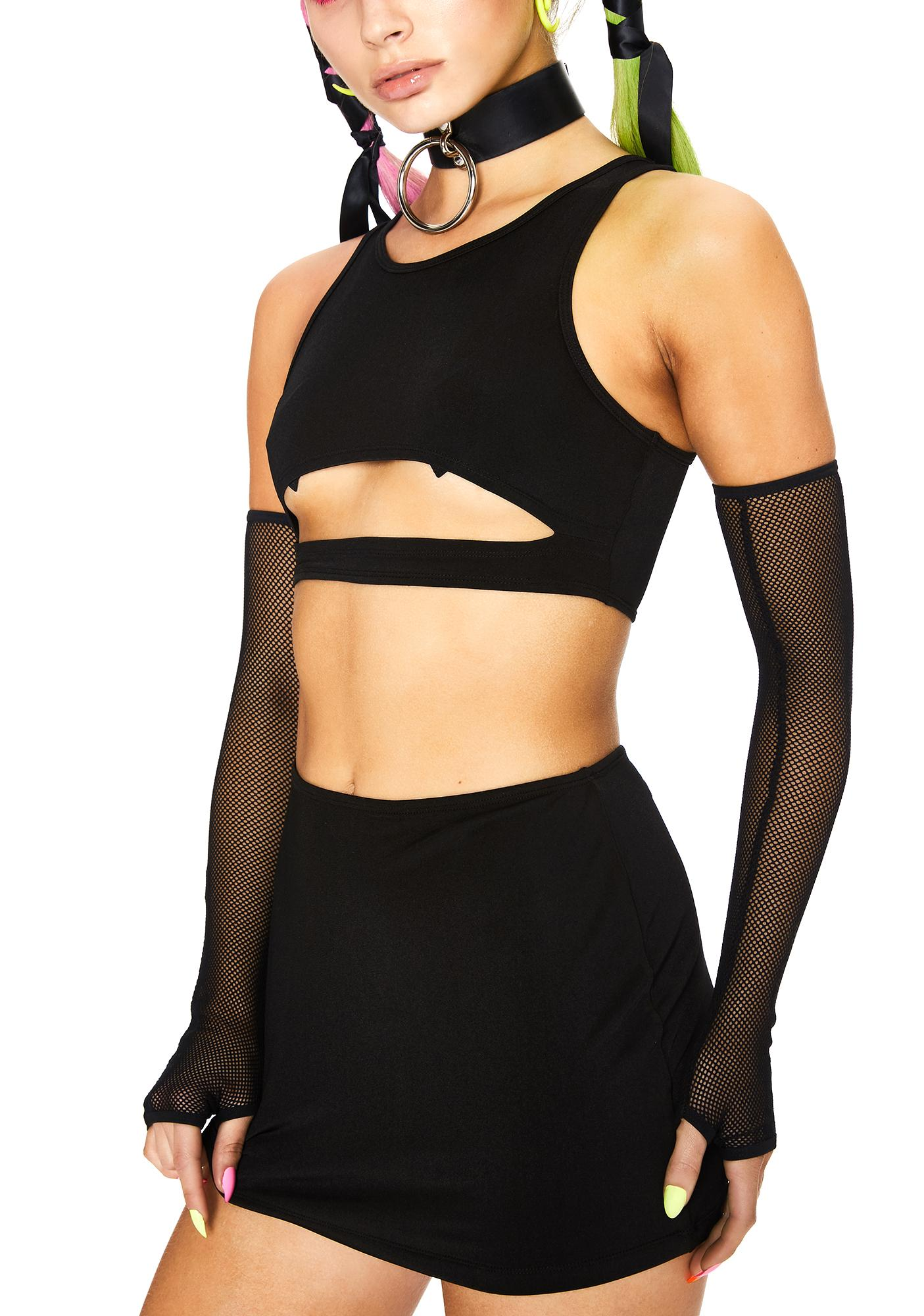 Club Exx Flash Delirium Skirt Set