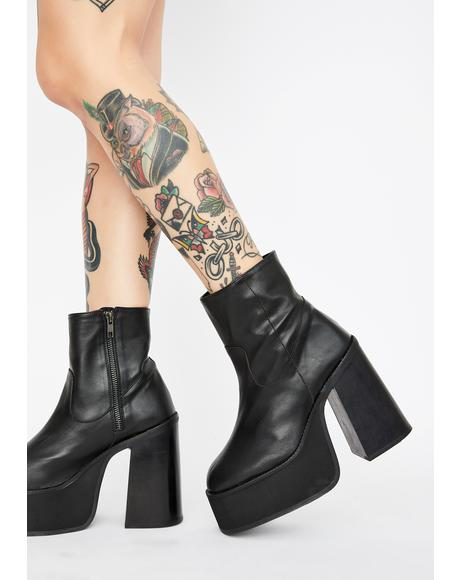 Against The Grain Leather Platform Boots