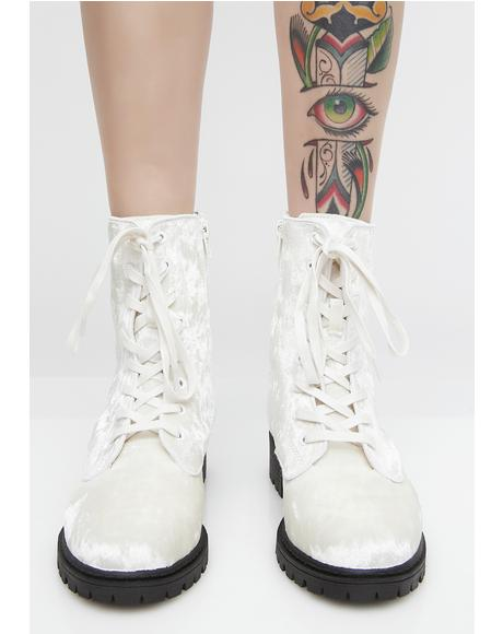Angel Unlocked Love Combat Boots