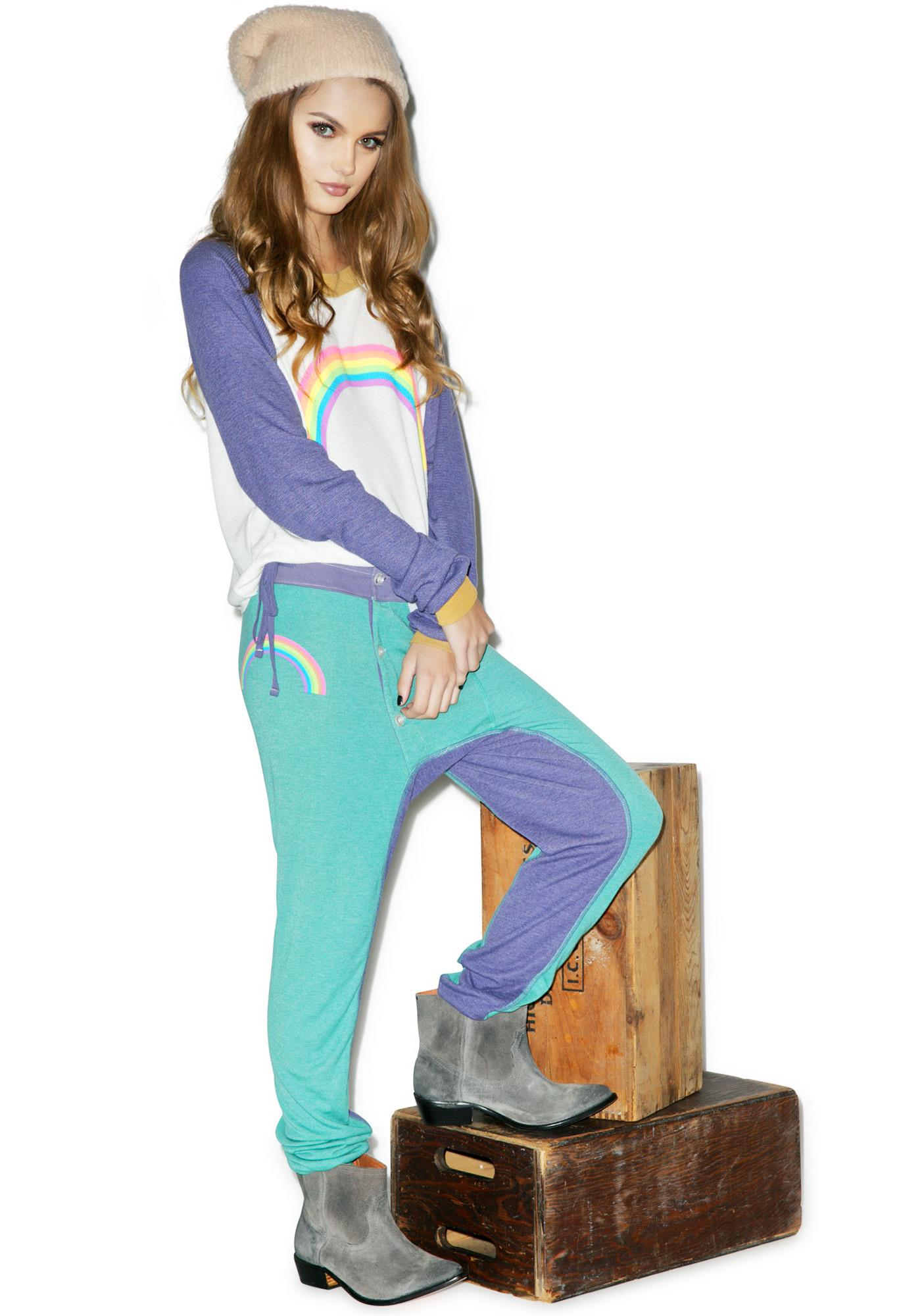 Wildfox Couture Campfire Rainbow Leggings