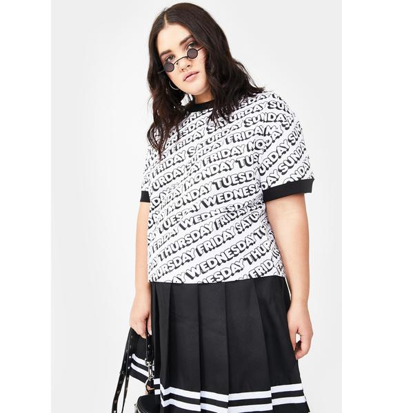 Lazy Oaf Plus Day After Day Ringer Tee