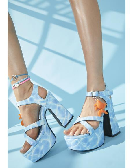 Fish Outta Water Platform Heels
