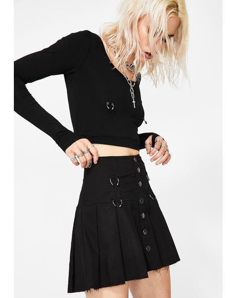 Lonely Antics Pleated Skirt