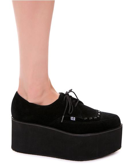Suede Stacked Pointed Mondo Creeper