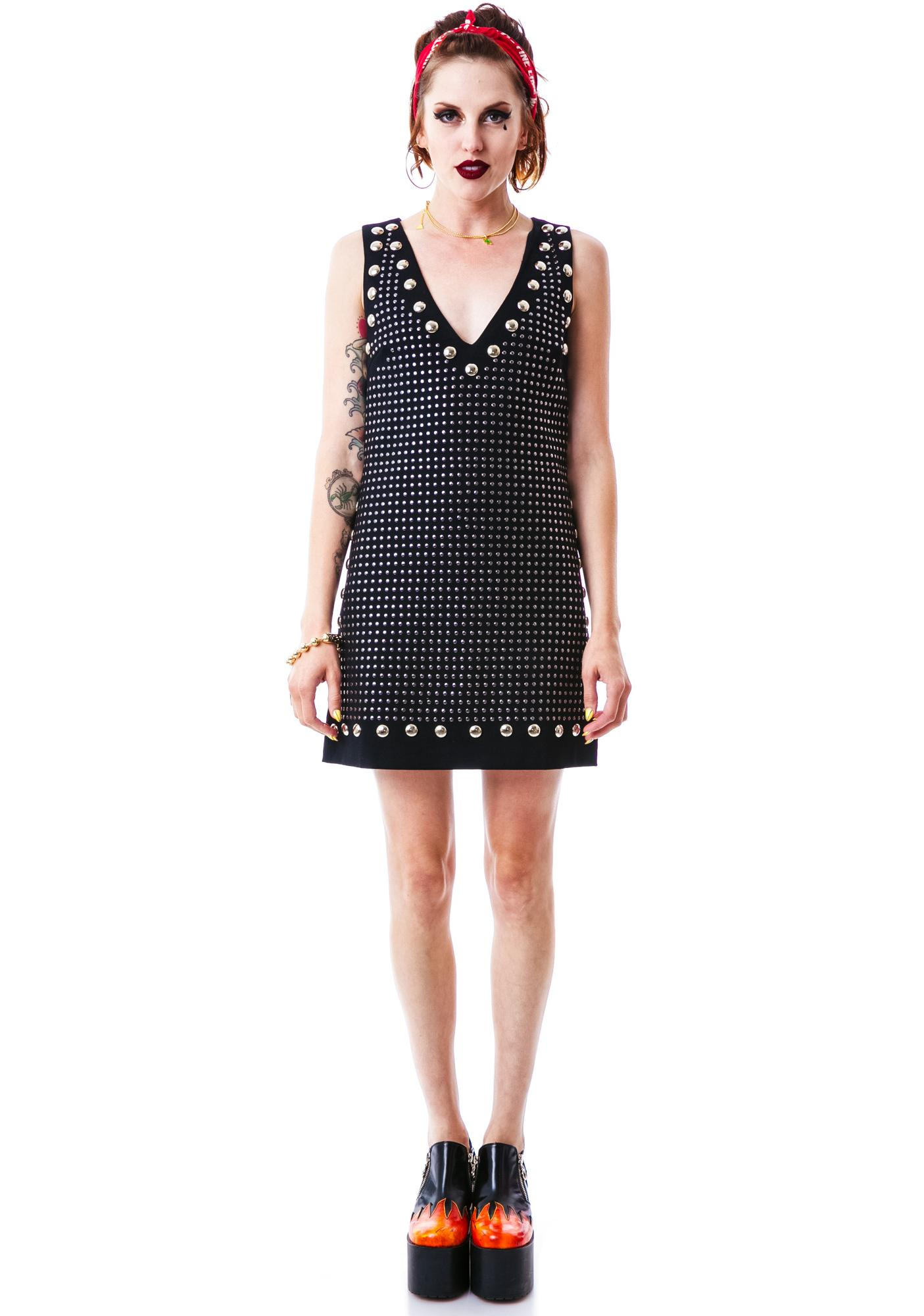 Enter the Night Studded Dress