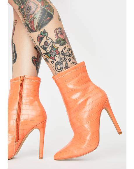 Orange Revive Ankle Boots