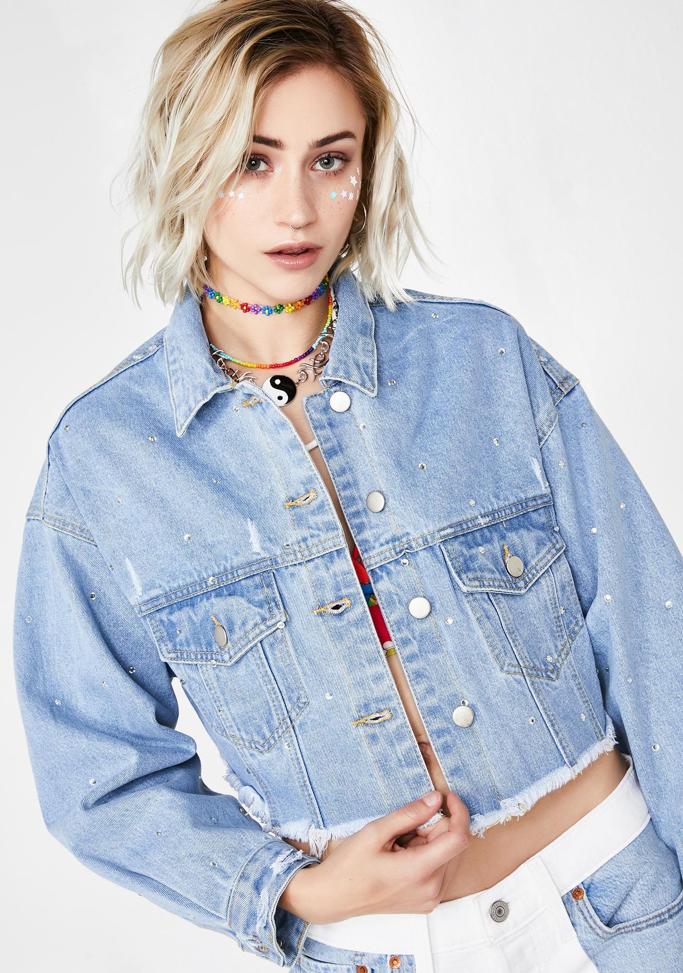 Crystal Crush Denim Jacket