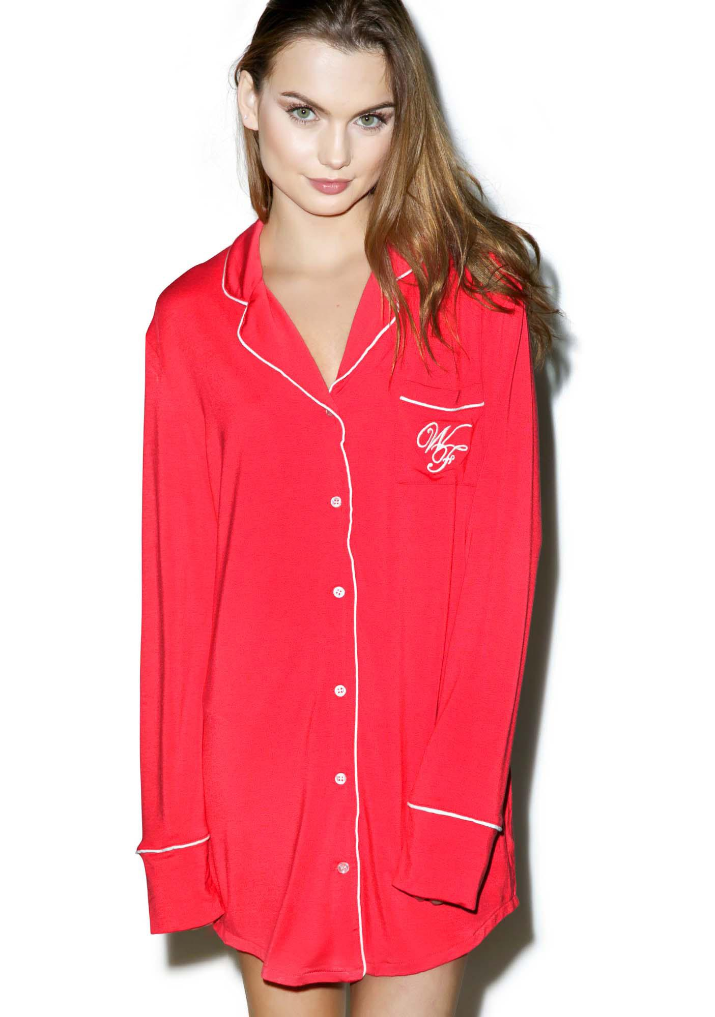 Wildfox Couture Let's Spend The Night Sweet Dreams Sleepshirt