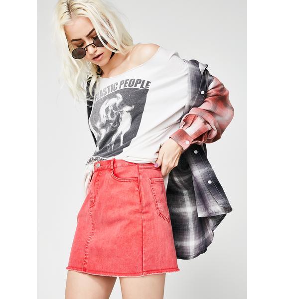 Between Us Denim Mini Skirt