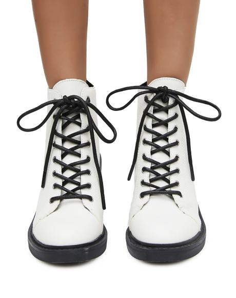 Lynx Lace-Up Booties