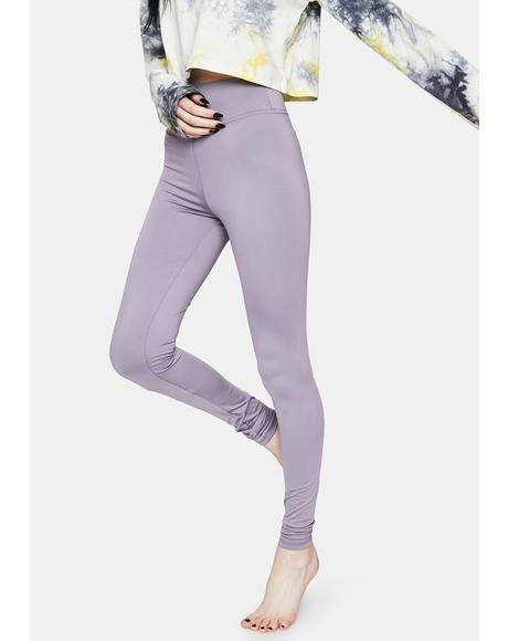Lavender Bootcamp Babe High Waist Leggings