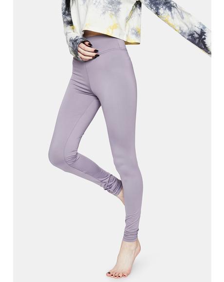 Lavender Bootcamp Babe High Waist Leggings
