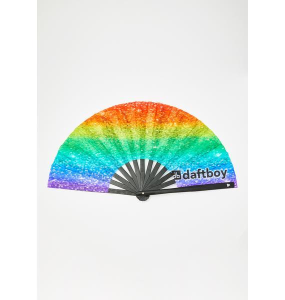 Daft Boy Rainbow Sparkles Fan