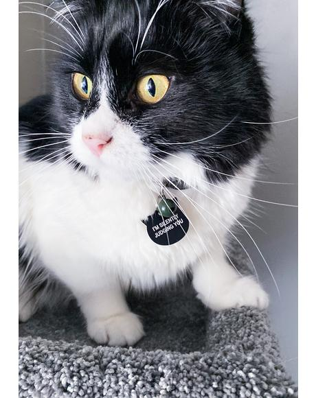 Silently Judging You Pet Tag