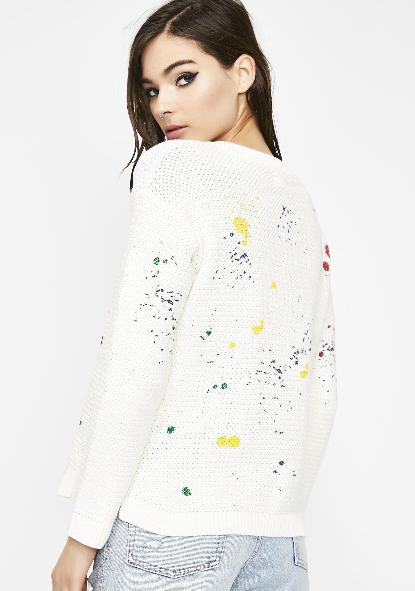 Art School Graduate Splatter Sweater