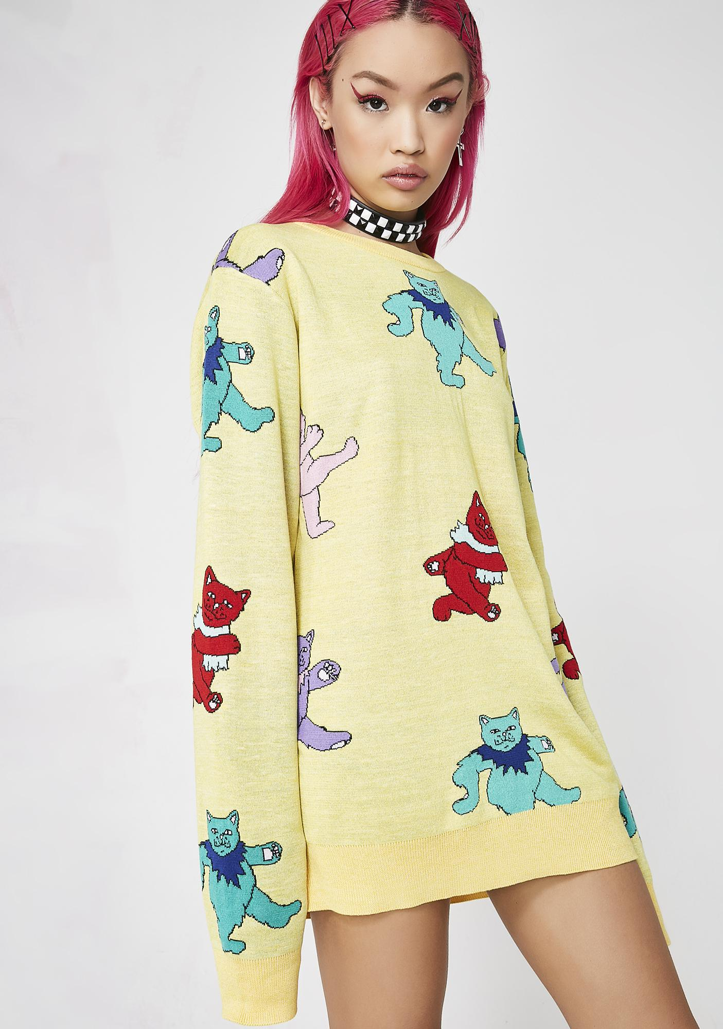 RIPNDIP Sunshine Dancing Nerm Knit Sweater