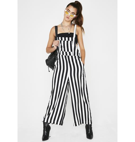 Barely Legal Stripe Overalls