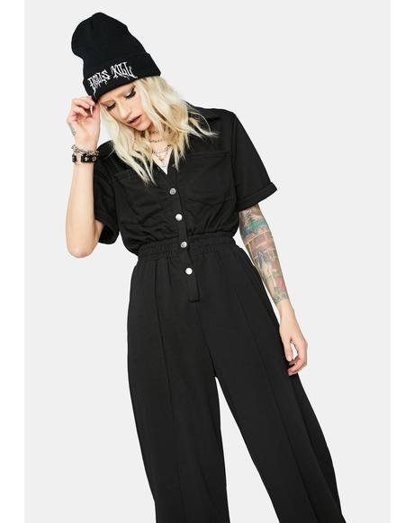 Night Brainwave Beats Button Up Jumpsuit