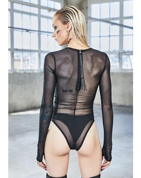 Bassline Mesh Long Sleeve Bodysuit