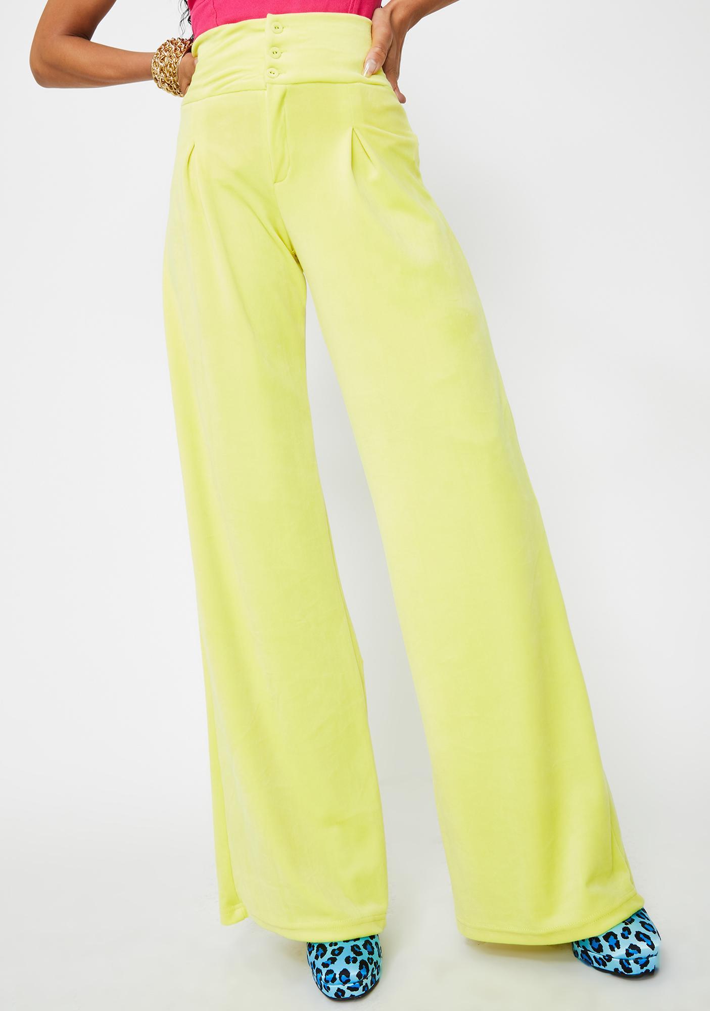 Elsie & Fred Riot Velour Wide Leg Pants