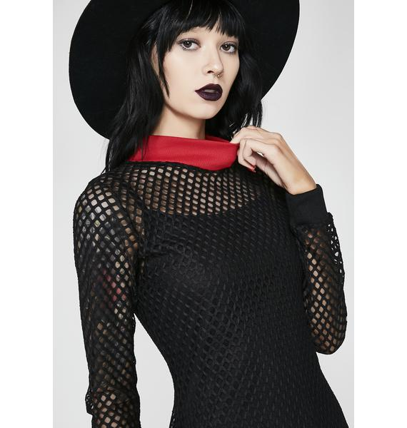 Disturbia Enmeshed Midi Dress