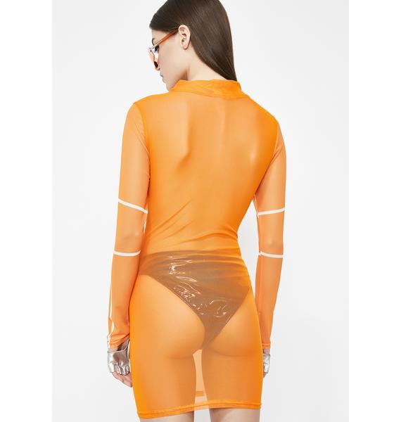 Rollin' On Fleek Sheer Dress