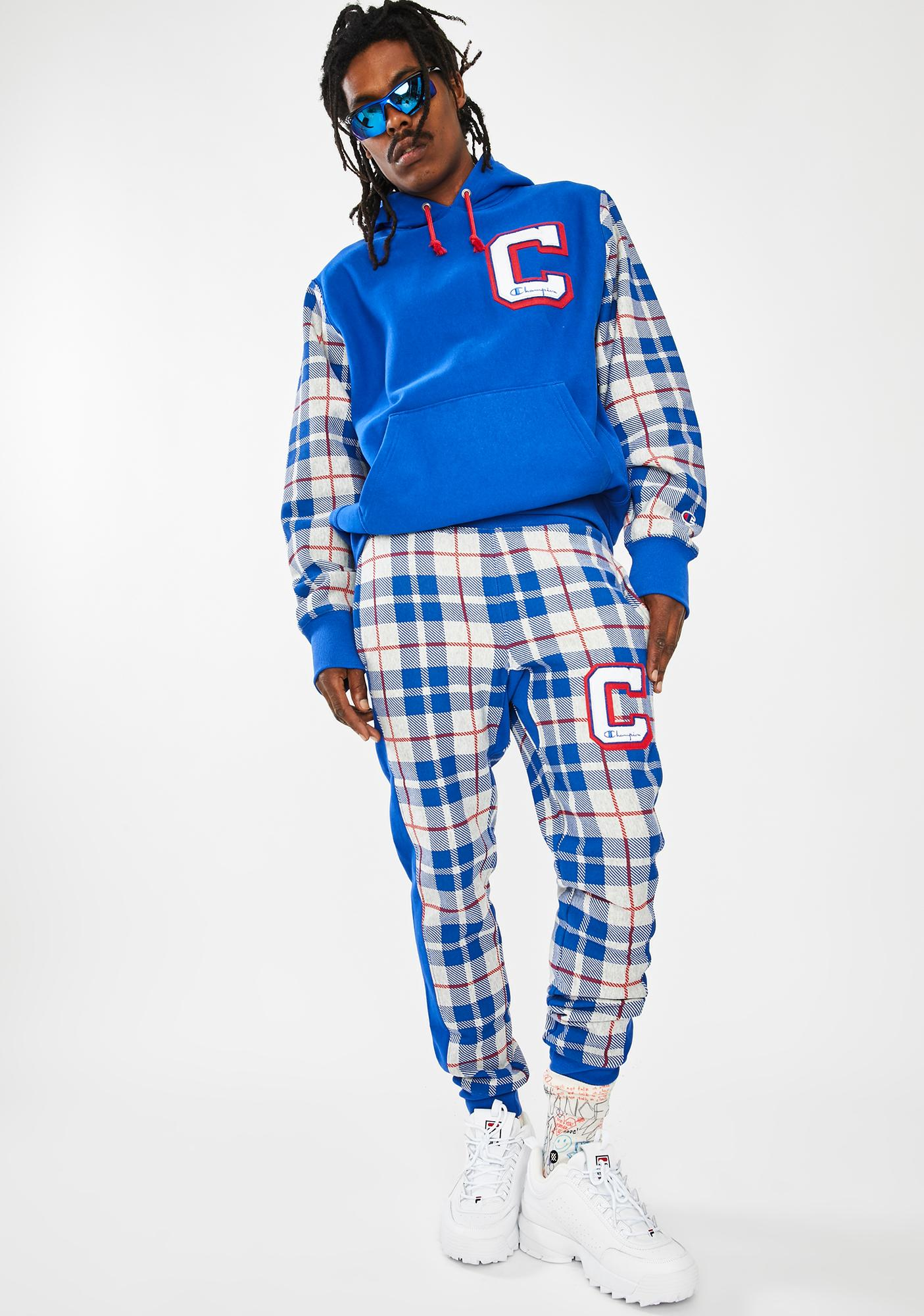 Champion Reverse Weave Plaid Jogger Sweatpants