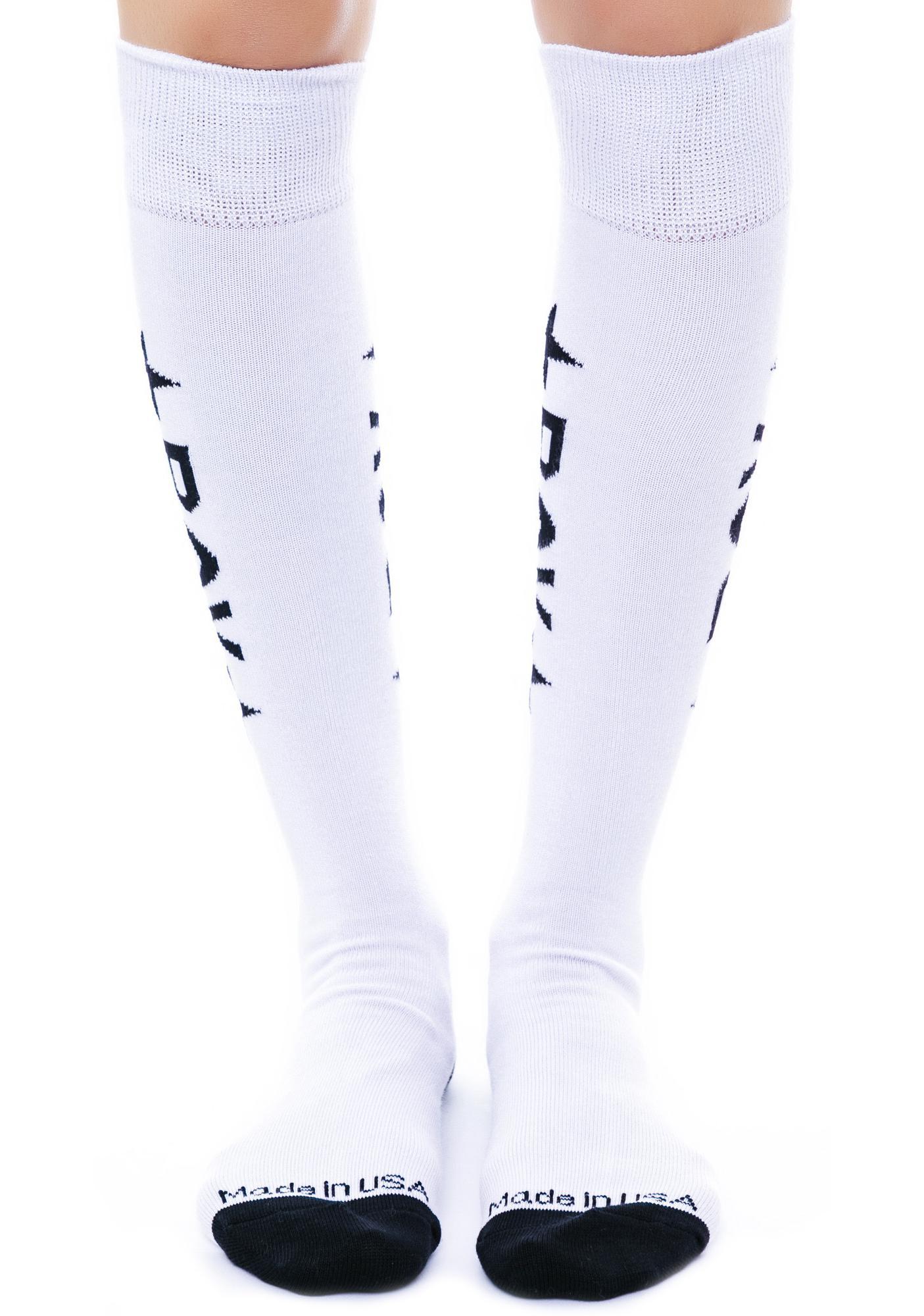 BOY London BOY Star Knee Socks