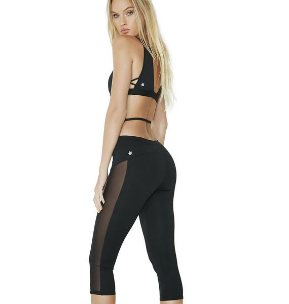 Strapped In Sheer Panel Leggings