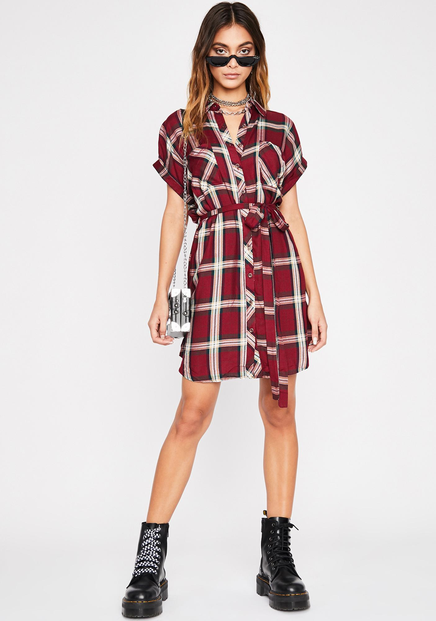 Keep It Casual Plaid Dress