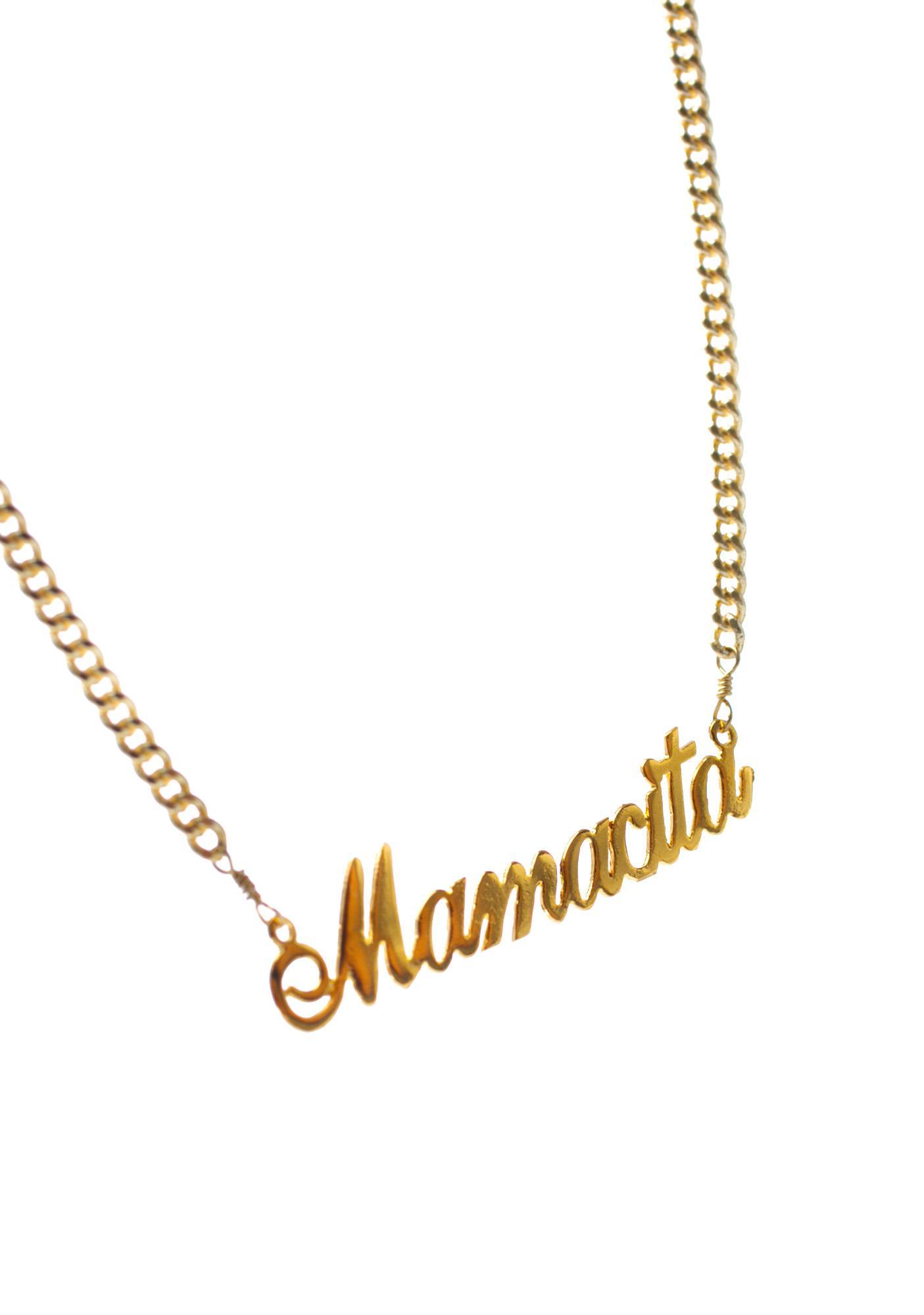 Vidakush Mamacita Name Plate Choker
