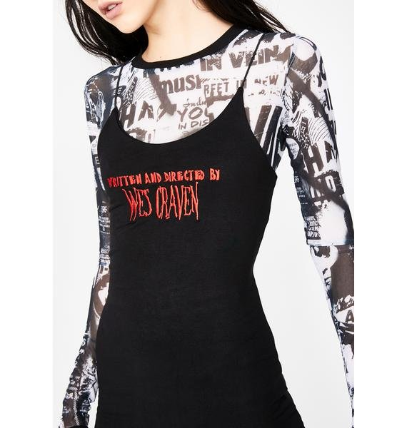 O Mighty Wes Craven Mini Dress