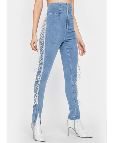 Life's A Stage Fringe Jeans