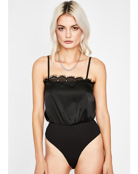 Dark Fancy Me Satin Bodysuit