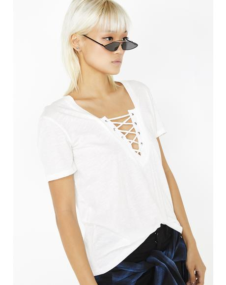 Icy Mischief Maven Lace Up Tee