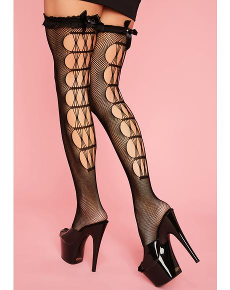 Fierce Flirt Fishnet Thigh Highs
