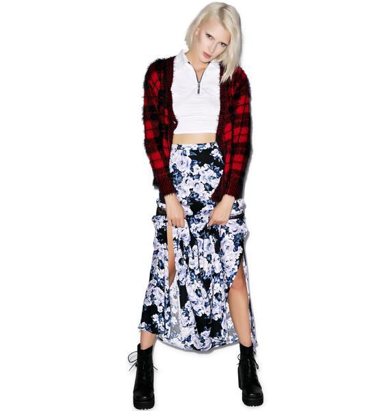 Mink Pink Moonlit Fountain Maxi Skirt